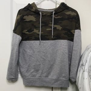 Size small camo hoodie